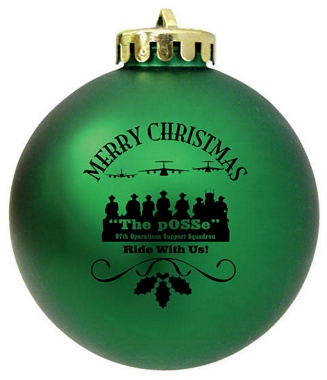 custom logo christmas ornaments