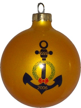 gss navy holiday party christmas ornament