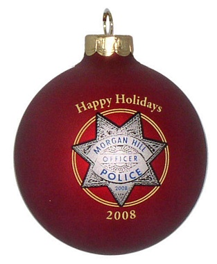 police department christmas ornament