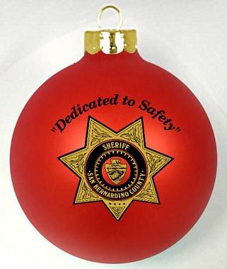 Sheriff Christmas Fundraiser Custom Ornaments