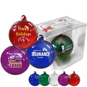 Fund Raiser Christmas Glass Ornaments Quick Ship Ornaments