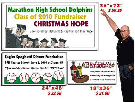 use banners to promote your fundraiser event