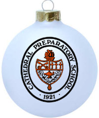 glass school Christmas ornament