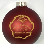 BDB Ornament template has bells and ribbon border and your design is set inside