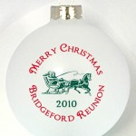 CST Ornament design has logo or art in the middle and the text around in in the circular fashion