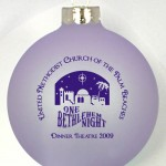 CT Ornament has your image or logo in the center and text set around the top and bottom