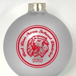 DLCB Designed Christmas Ornaments has a double line circle around your design