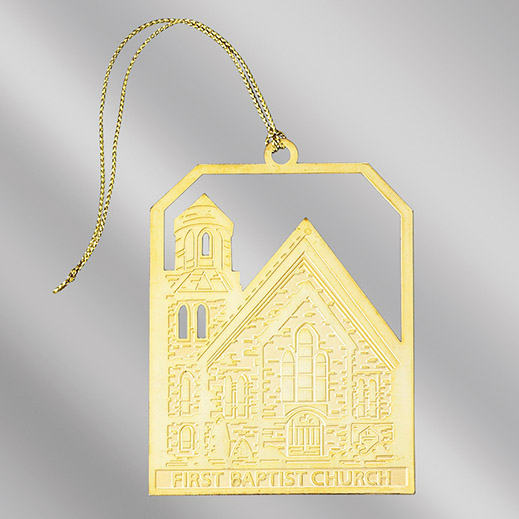 Engraved Brass Christmas Ornaments