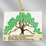 hospital-fundraising-cloisonne-brass-ornaments