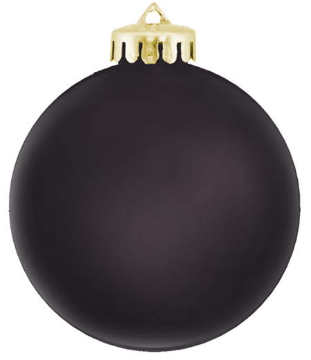 satin black ornament shatterproof