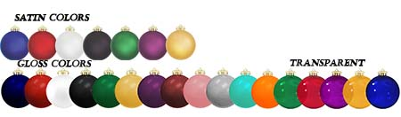 Ornament Colors Custom Printed Shatterproof Christmas Ball ORnaments