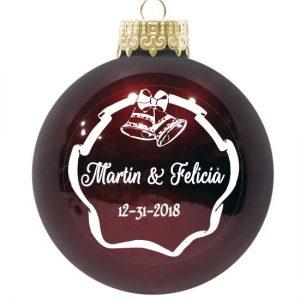 Christmas Ornament Design Bells Wedding Border