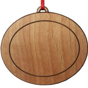 Custom Wood Christmas Ornament OVal