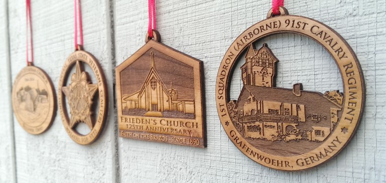 Church Wood Laser Custom Ornaments Fundraising
