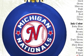 Sports Team Christmas Fundraiser Ornament