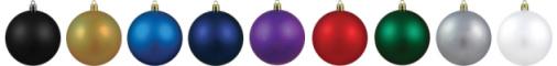 Deluxe Acrylic Custom Ornament Colors.